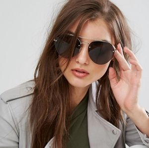 Quay Somerset Aviator Sunglasses